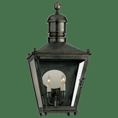 Sussex Medium 3/4 Lantern in Bronze