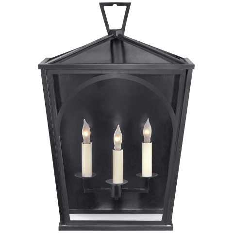 Darlana Arc Medium Sconce in Bronze with Clear Glass
