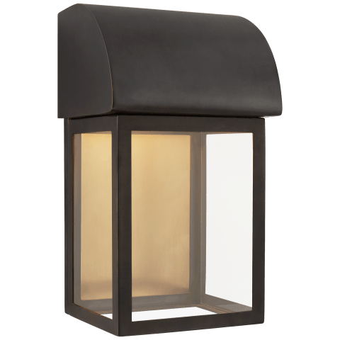 "Edgemont 13"" Wall Sconce in Bronze with Clear Glass"