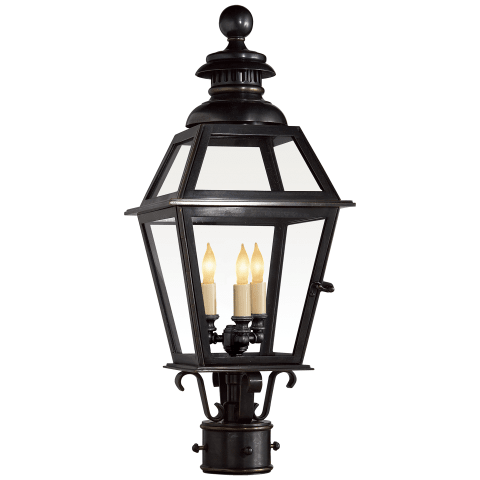 Chelsea Medium Post Lantern in Bronze
