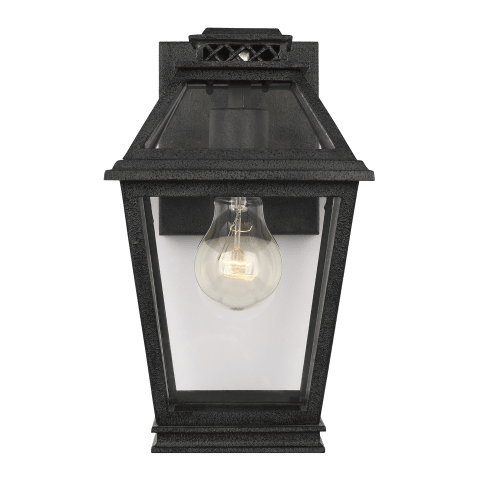 Falmouth 1 - Light Outdoor Wall Lantern Dark Weathered Zinc