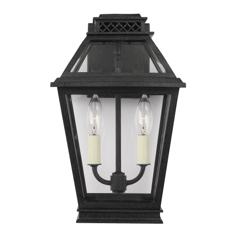 Falmouth Small Outdoor Wall Lantern Dark Weathered Zinc