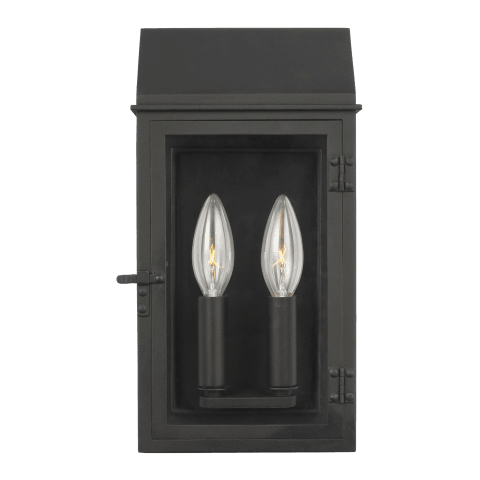 Hingham Small Outdoor Wall Lantern Textured Black