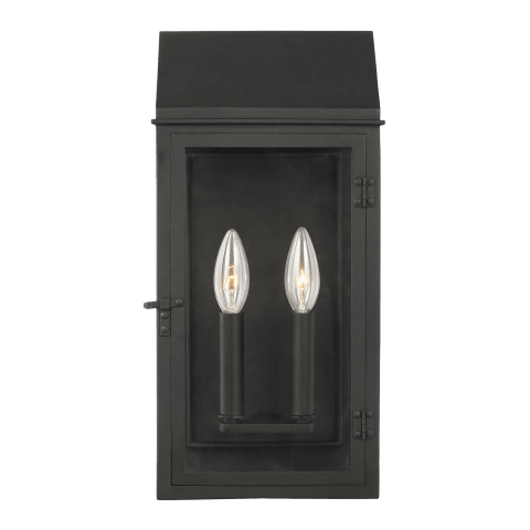 Hingham 2 - Light Outdoor Wall Lantern Textured Black