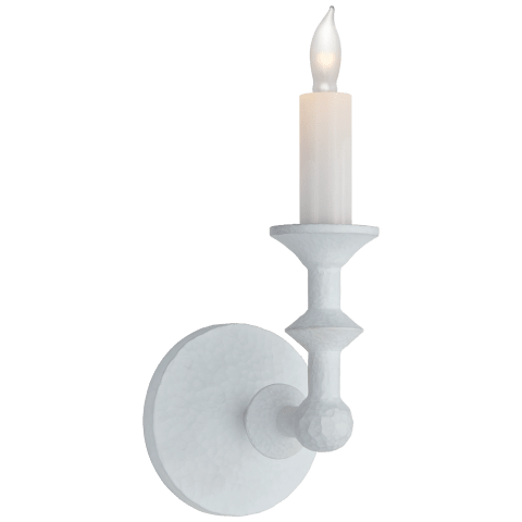 Harlow Small Sconce in Plaster White