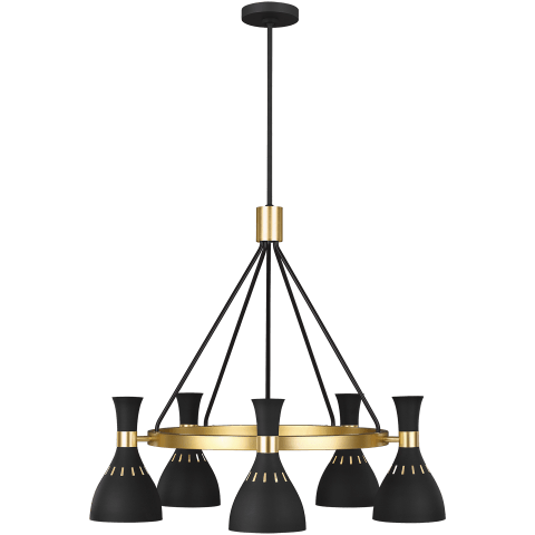 Joan 5 - Light Chandelier Midnight Black