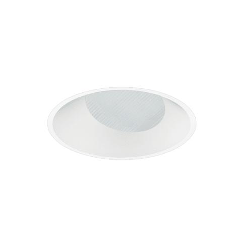 "3"" ENTRA Round Adjustable Flangeless Wall Wash Trim, White, No Lens"