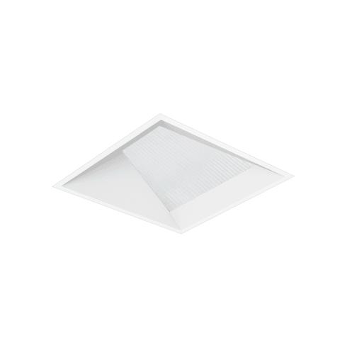 "3"" ENTRA Square Adjustable Flangeless Wall Wash Trim, Lensed, White"