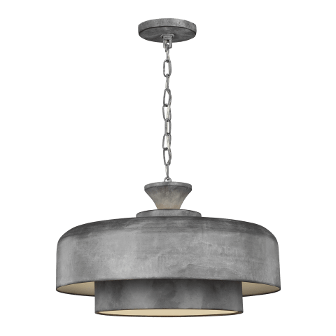Haymarket 1 - Light Pendant Weathered Galvanized