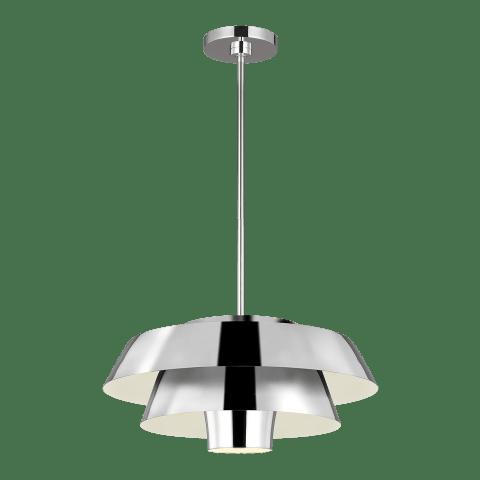 Brisbin Medium 1 - Light Pendant Burnished Brass