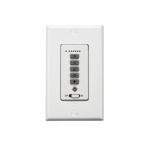 6 - Speed Wall Control with LED Light Dimmer, White
