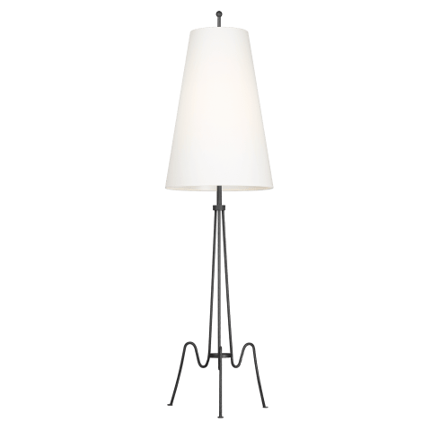 Mabel 1 - Light Floor Lamp Aged Iron Bulbs Inc