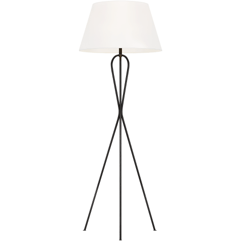 Francis 1 - Light Floor Lamp Aged Iron Bulbs Inc