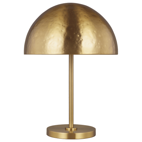 Whare Table Lamp Burnished Brass Bulbs Inc