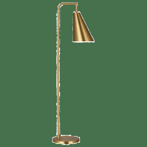 Jamie Floor Lamp Burnished Brass Bulbs Inc