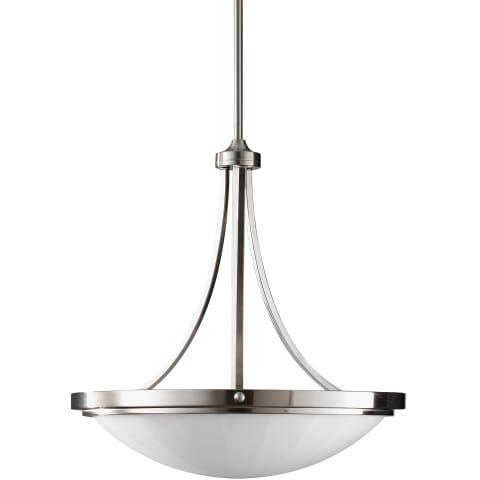 Perry 3 - Light Uplight Chandelier Brushed Steel