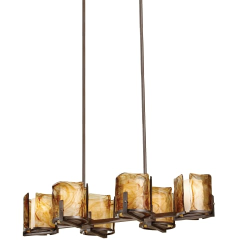 Aris 6 - Light Island Chandelier Roman Bronze
