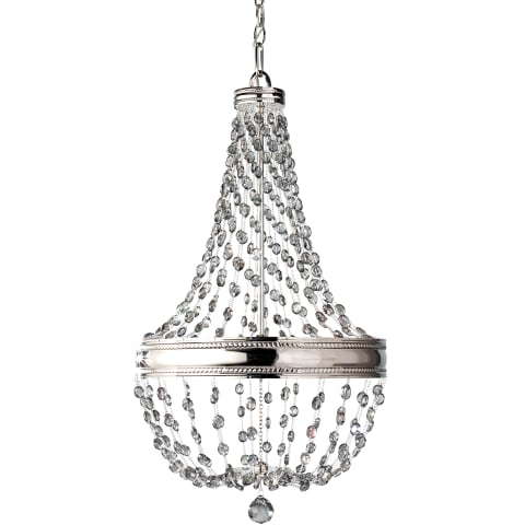 Malia 6 - Light Chandelier Polished Nickel