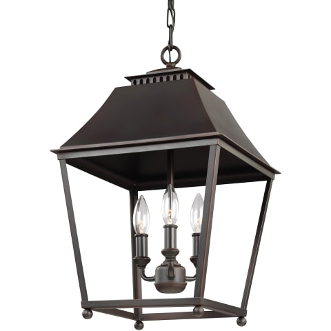 Galloway Medium Lantern Dark Antique Copper / Antique Copper