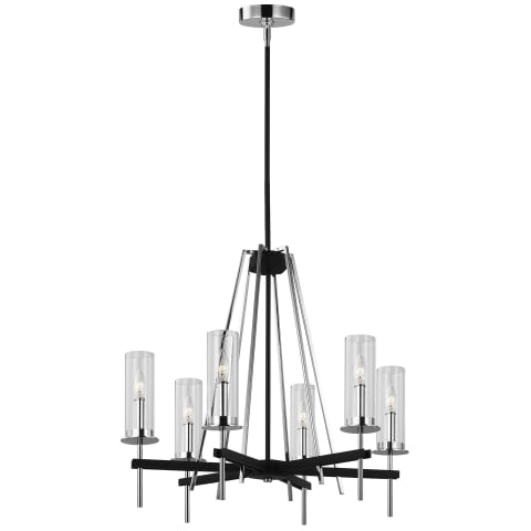 Broderick 6 - Light Chandelier Textured Black