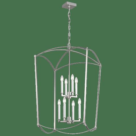 Thayer Extra Large Lantern Polished Nickel