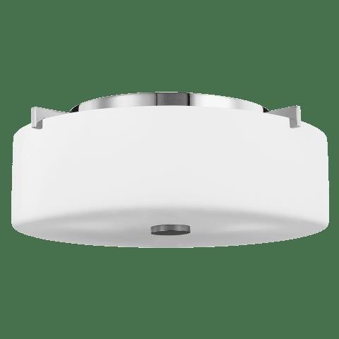 Sunset Drive Small Two Light Flush Mount Chrome Bulbs Inc