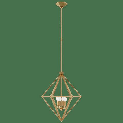 Afton Small Elongated Lantern in Gild