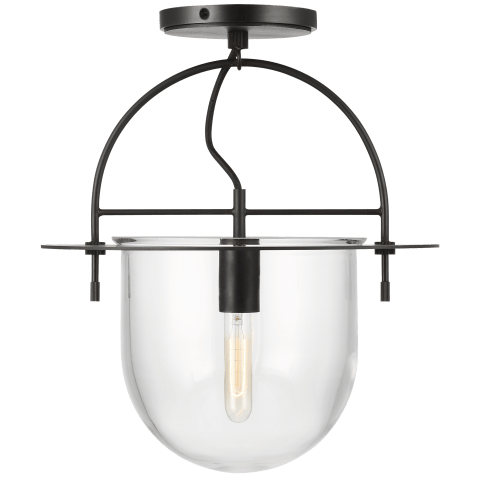 Nuance 1 - Light Medium Semi-Flush Mount Aged Iron