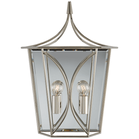 Cavanagh Medium Lantern Sconce in Polished Nickel