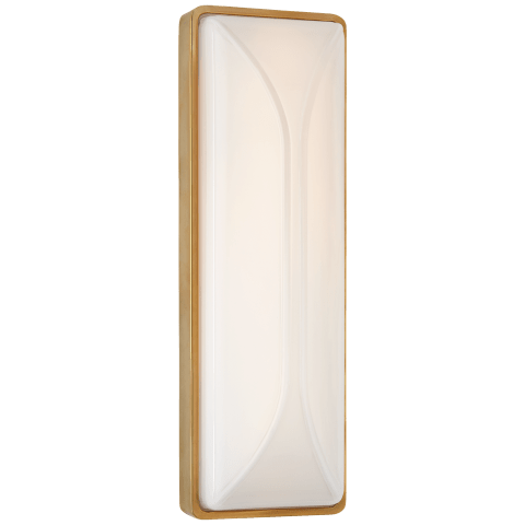 "Carmilla 14"" Bath Sconce in Soft Brass with White Glass"