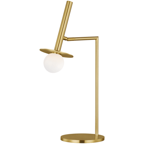 Nodes 1 - Light Table Lamp Burnished Brass Bulbs Inc