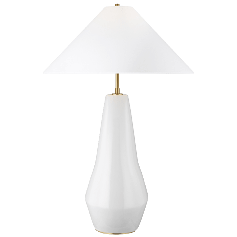 Contour Tall Table Lamp Arctic White Bulbs Inc