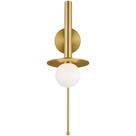 Nodes 1 - Light Pivot Wall Sconce Burnished Brass