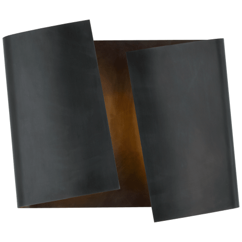 Piel Left Twisted Sconce in Bronze