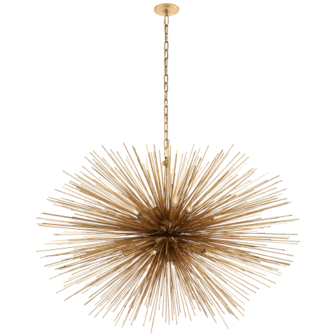 Strada Large Oval Chandelier in Gild