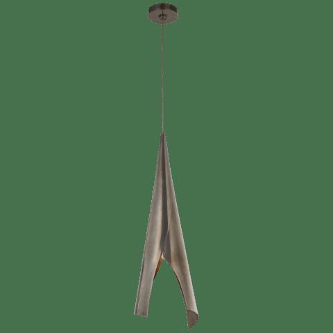 Pelle Medium Wrapped Pendant in Pewter