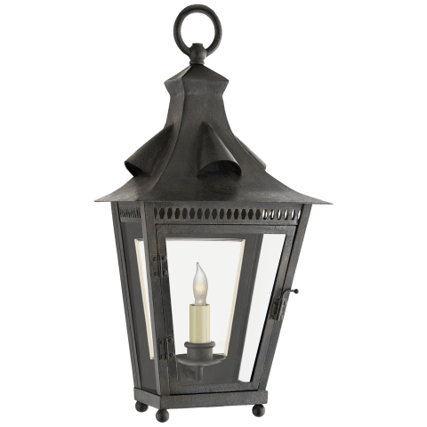 Orleans Small 1/2 Sconce in French Rust with Clear Glass