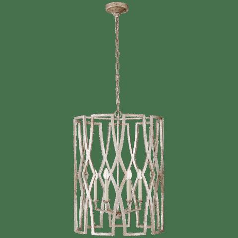 Brittany Large Lantern in Venetian Silver
