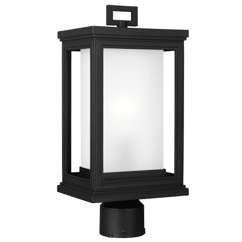 Roscoe 1 - Light Outdoor Post Lantern Textured Black