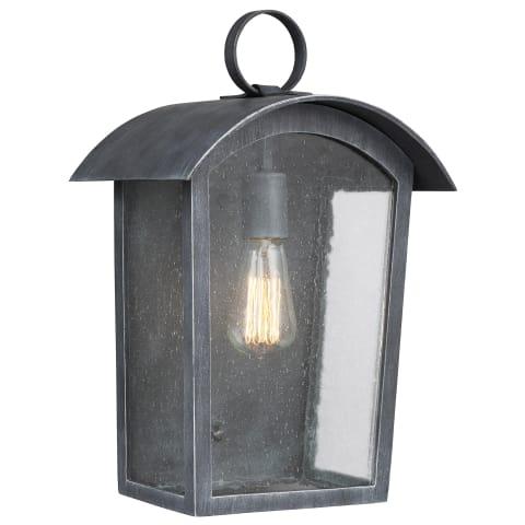 Hodges 1 - Light Outdoor Wall Lantern Ash Black