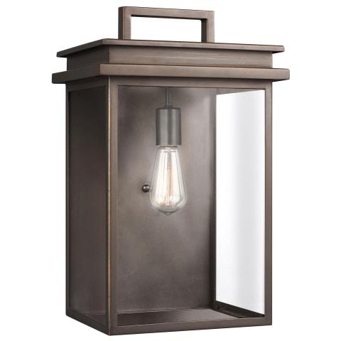 Glenview 1 - Light Outdoor Wall Lantern Antique Bronze