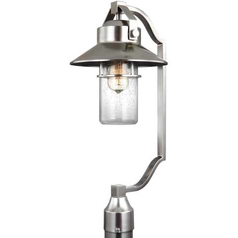 Boynton 1 - Light Outdoor Post Lantern Painted Brushed Steel