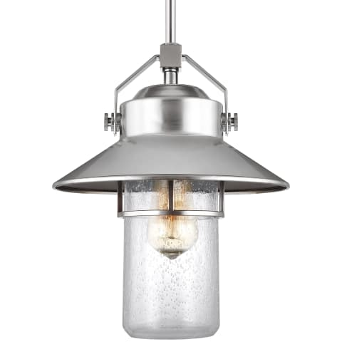 Boynton 1 - Light Outdoor Pendant Lantern Painted Brushed Steel