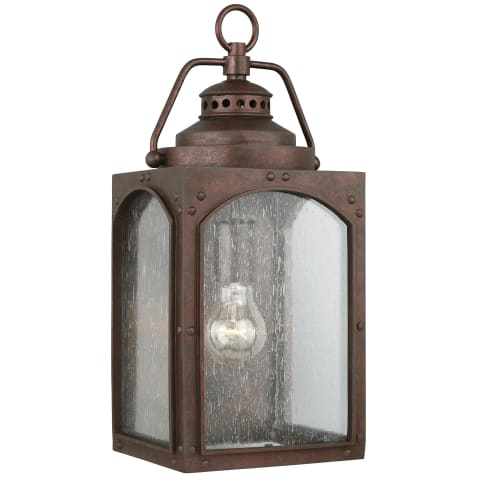 Randhurst 1 - Light Wall Lantern Copper Oxide