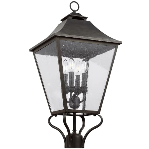 Galena 4 - Light Post/Pier Lantern Sable