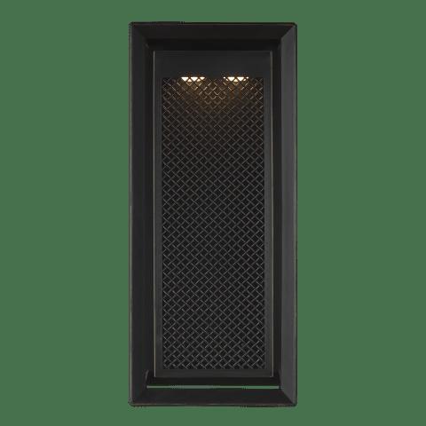 Milton 1 - Light Outdoor Wall Lantern Antique Bronze Bulbs Inc