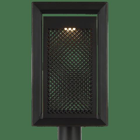 Milton 1 - Light Outdoor Post Lantern Antique Bronze Bulbs Inc