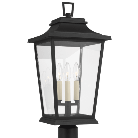 Warren 3 - Light Outdoor Post Lantern Textured Black