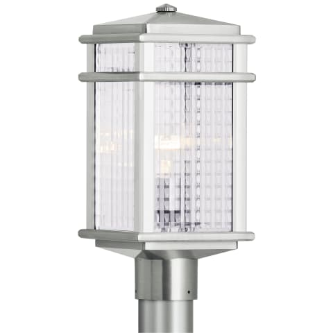 Mission Lodge 1 - Light Post Brushed Aluminum