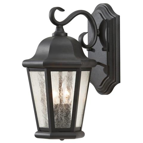 Martinsville 2-Light Outdoor Lantern Black
